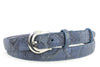 Skinny Dark Denim Metallic Python effect belt