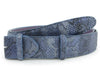 Dark Denim Metallic Python effect belt strap