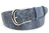 Dark Denim Metallic Python effect belt