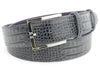 Steel grey mock crocodile kink belt