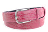 Flashdance pink mock croc belt