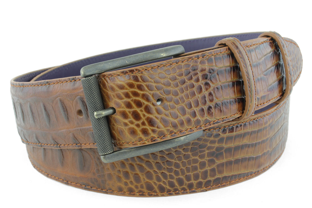Brown sugar mock caiman roller belt