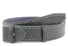 Asphalt chainstitch burnished belt strap