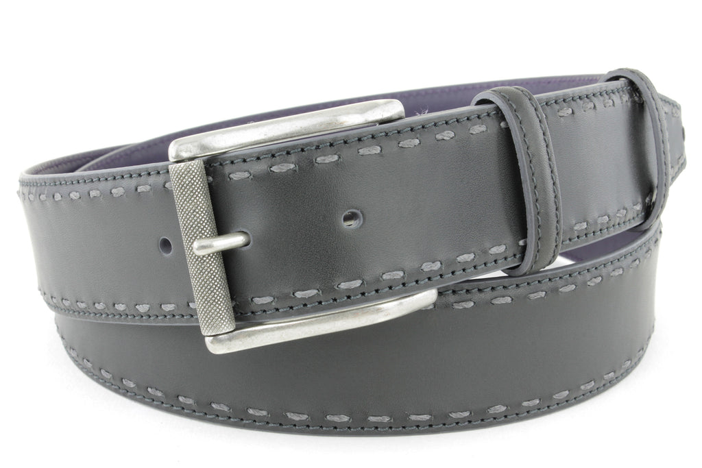 Asphalt chainstitch burnished roller belt