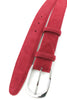 Pillar box red suede belt