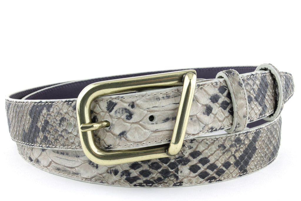 Twig mock python narrow belt