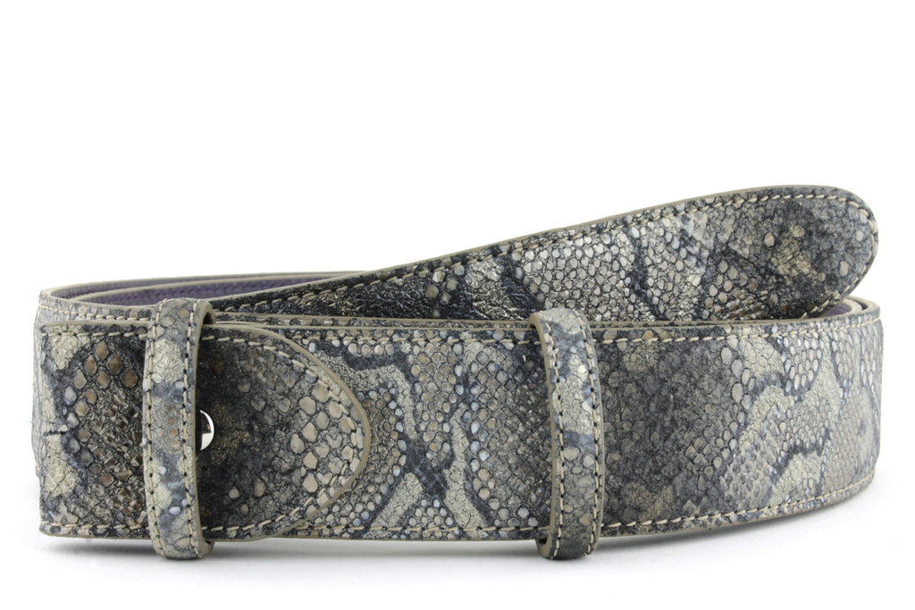 Twig metallic python effect belt strap