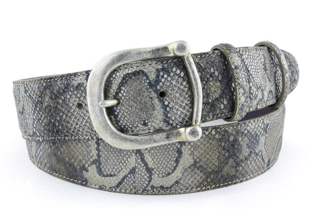 Twig metallic python effect belt