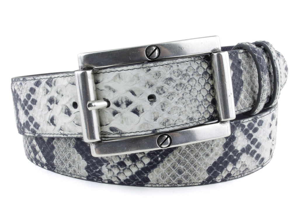 Roccia mock python screw belt