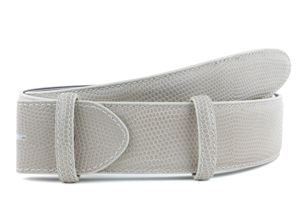 Orix micro lizard textured belt strap