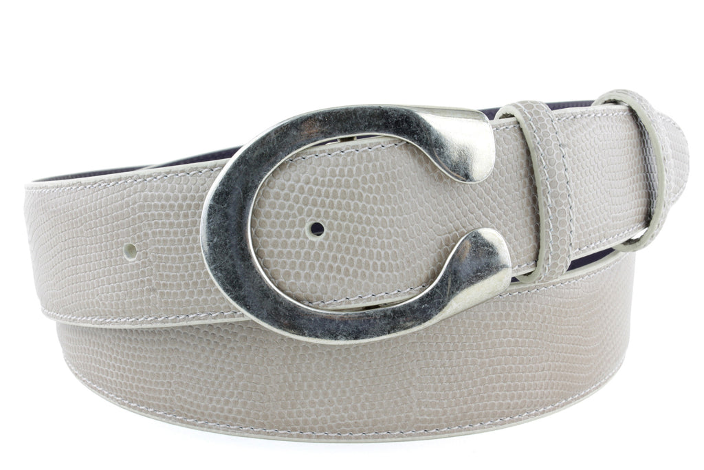 Orix micro lizard saddle buckle belt