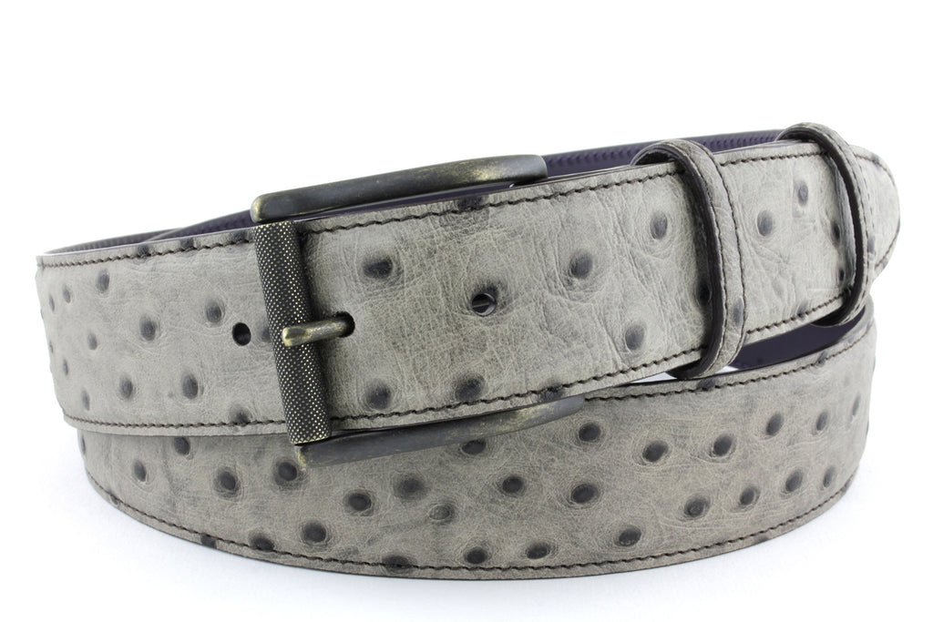 Dark Mole Mock Ostrich quill belt