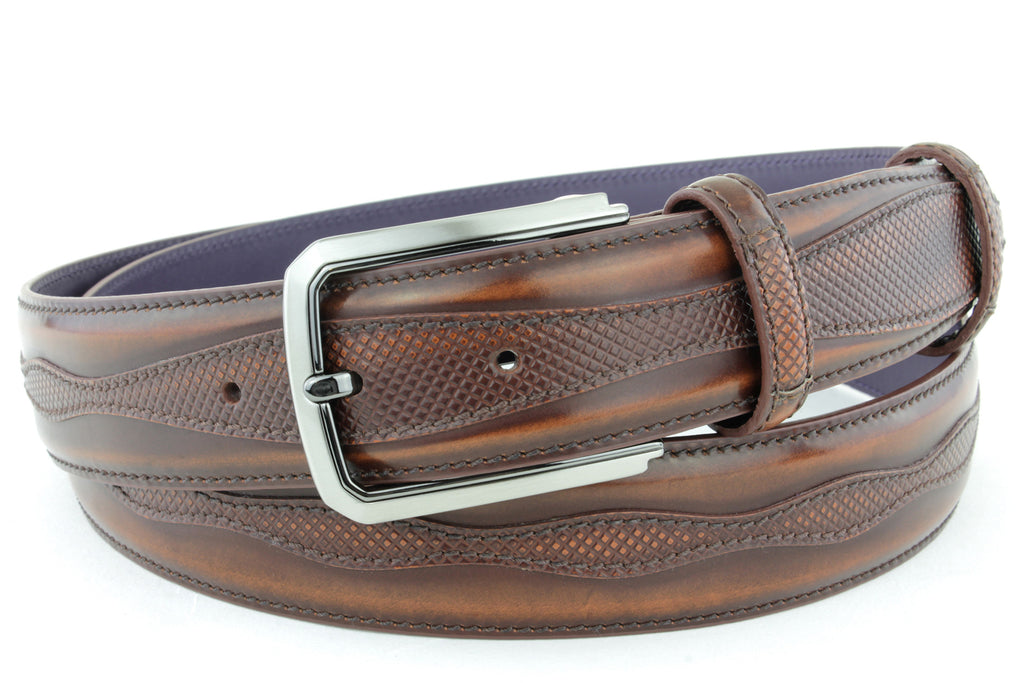 Fudge Jolson design cordovan belt
