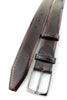 Wine hand burnished Pacino belt