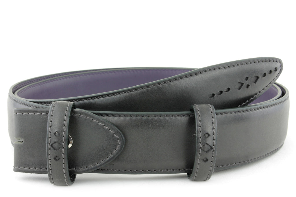 Anthracite Eastwood diamond perforation belt strap