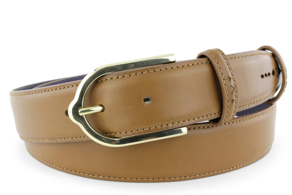 Mid Tan Eastwood diamond perforation belt