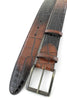 Armagnac two tone mock croc roller belt
