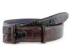 Pinot Noir two tone mock croc belt strap