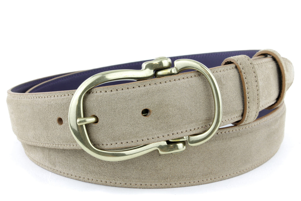 Antelope narrow suede equestrian style belt
