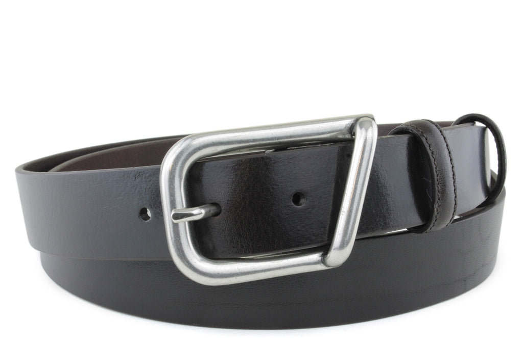 Smooth Bitter Choc Narrow Supple Belt