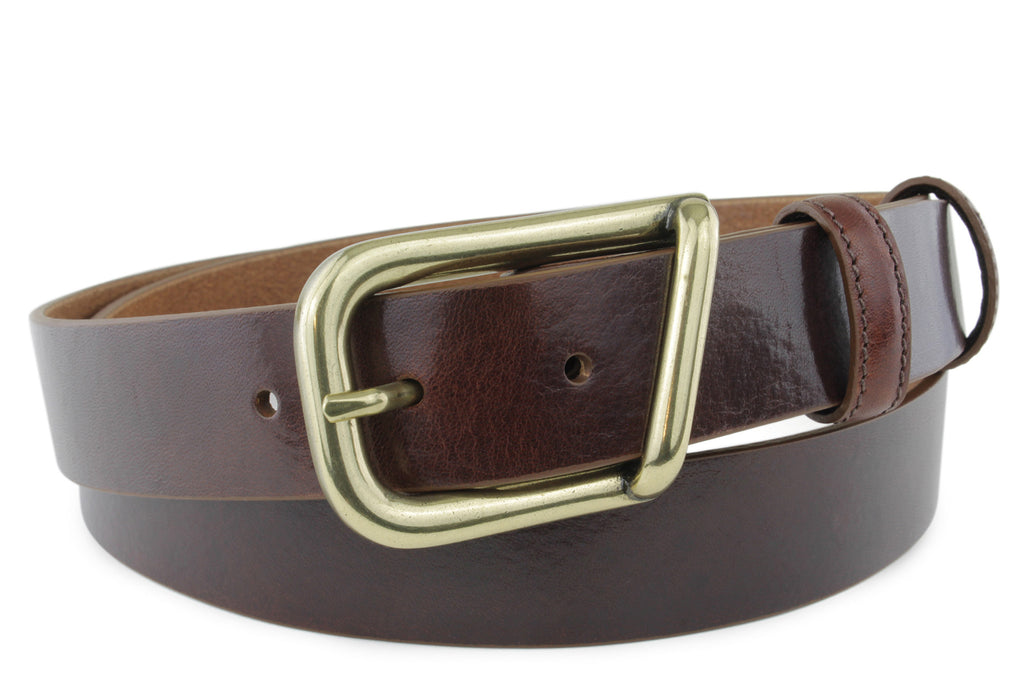 Smooth Cognac Narrow Supple Belt