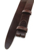 Smooth Cognac Narrow Supple Belt Strap