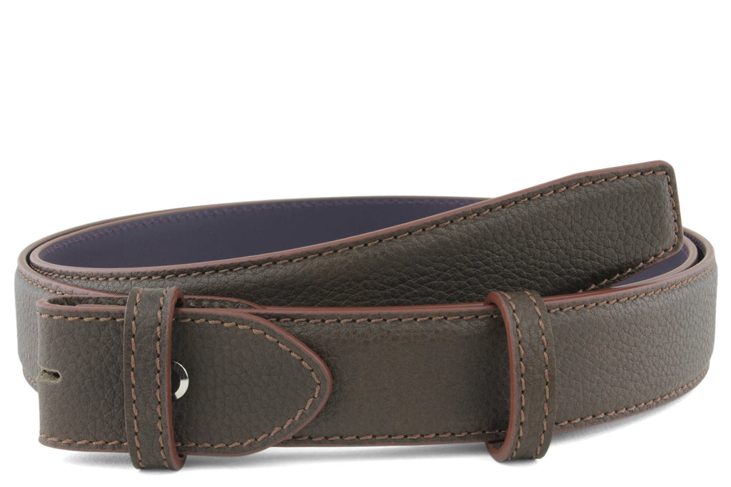 Narrow Bitter Choc Novak Belt Strap