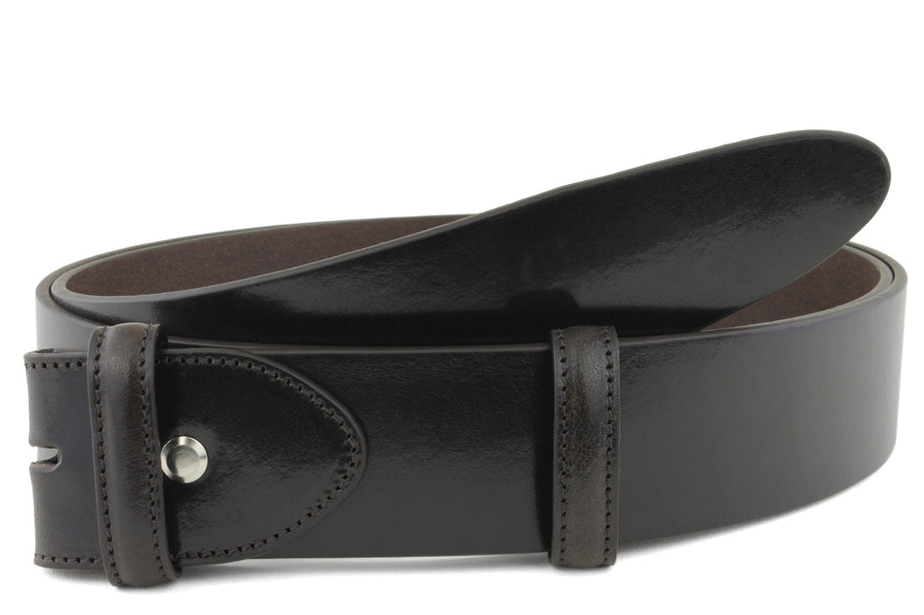 Smooth Supple Deep Brown Belt Strap