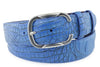 Aquatic Blue Mock Caiman Belt