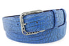 Aquatic Blue Crystal Mock Caiman Belt