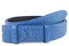 Aquatic Blue Mock Caiman Belt Strap