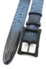 Twilight Blue Mock Caiman Carbon Fibre Screw Belt