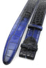 Twilight Blue Two Tone Mock Croc Belt Strap