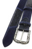 Pony Crack Mix Navy Filigree Belt