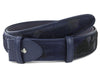Dark Navy Burn Out Pony Hair Belt Strap