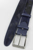 Dark Navy Burn Out Pony Hair Men's Roller Belt