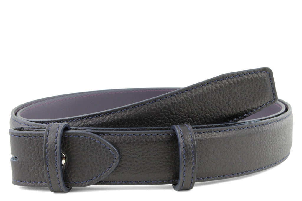 Narrow Deep Navy Novak Belt Strap