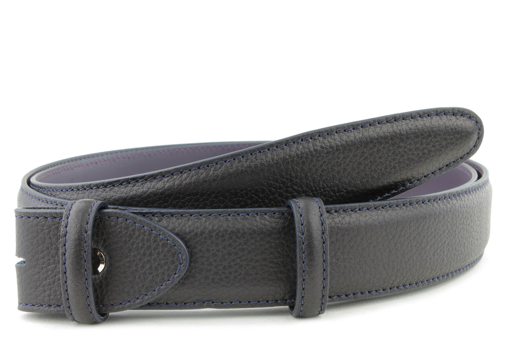 Mottled Deep Navy Belt Strap