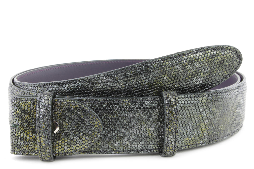 London Fog Metallic Honeycomb Belt Strap
