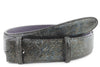Mottled Turq Metallic Honeycomb Belt Strap