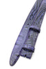 Purple Narrow Mock Caiman Belt Strap