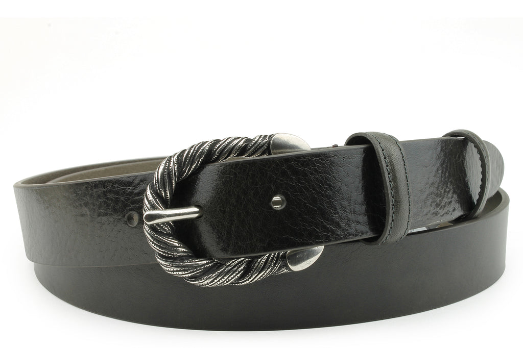 Smooth Greige Narrow Supple Belt