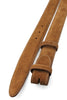 Tan Suede Narrow Belt Strap