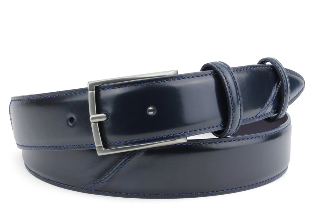 Hancock Hand Burnished Electric Blue Tone Belt