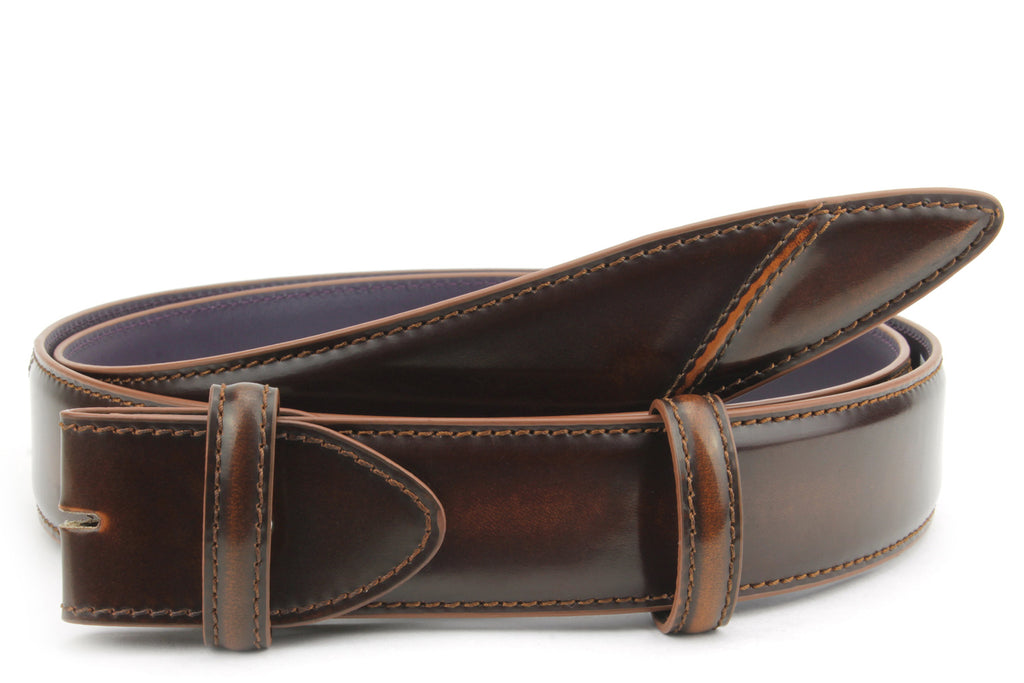 Hancock Hand Burnished Cognac Tone Belt Strap