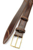 Hancock Hand Burnished Cognac Tone Belt