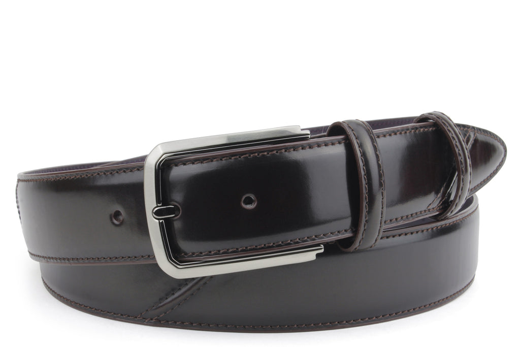 Hancock Hand Burnished Deep Choc Tone Belt