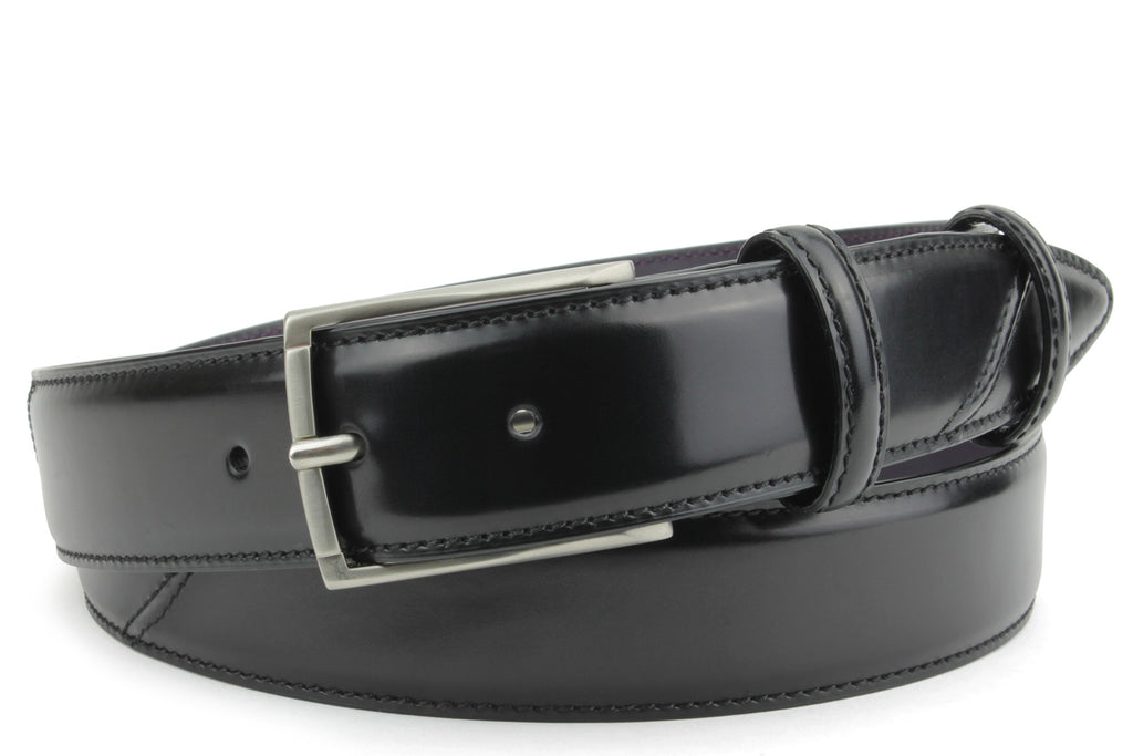Hancock Hand Burnished Black Belt