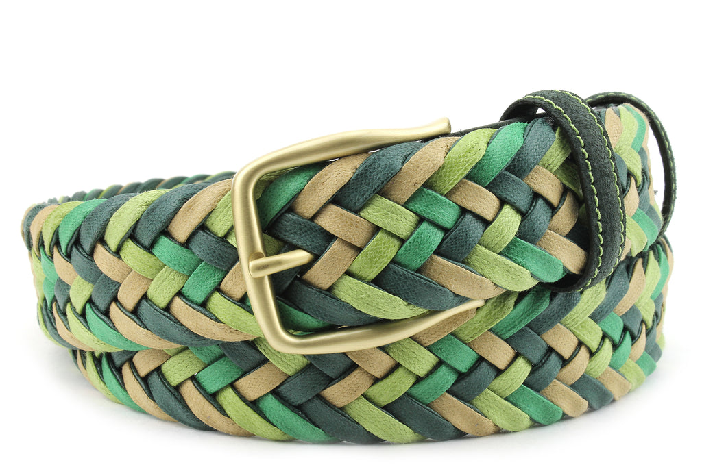 Green Mix Waxed Cotton Handweave Belt