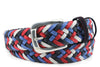 Red/White/Blue Mix Waxed Cotton Handweave Belt